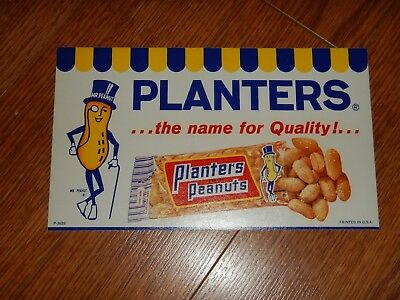 Vintage Mr. Peanut Planters ...the name for Quality!... Advertising Sticker