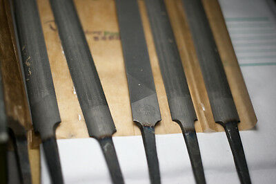 """6"""" (150mm) HALF ROUND Second Cut Files - Without Handles - made in India 04828"""