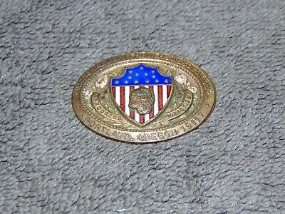 Original Vintage 1911 National Woolgrowers Association Portland Oregon Pin-Back