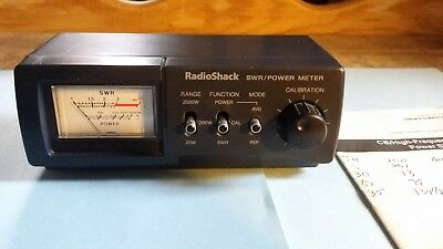 Radio Shack Swr, Power Meter Cat. No 21-534 Covers Cb And Ham Radio Frequencies