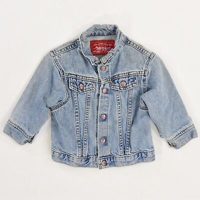 1980's Vintage Boys 24 Months Levi's Denim Jacket medium Wash