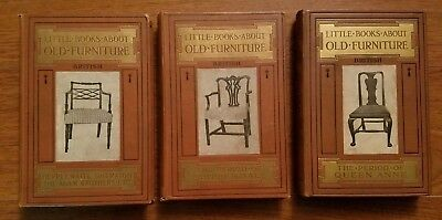 BRITISH, Little books about old Furniture, Queen Anne, Chippendale & Sheraton.