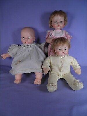 Lot of Three Vintage Madame Alexander Dolls Huggums, Kitten, Baby Victoria