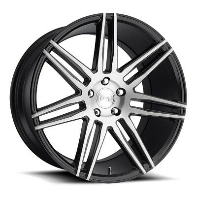 20x10.5 NICHE TRENTO M178 5x4.5 +45 Gloss Black/Brushed Face Rims (Set of 4)