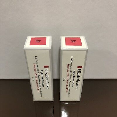 Lot Of 2 Elizabeth Arden Eight Hour Cream Lip Protectant Stick Sheer Tint Berry