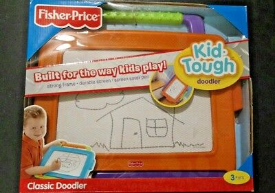 Fisher Price Kid Tough Doodler Classic Doodler Orange Green Purple 3+ Toy 16x14