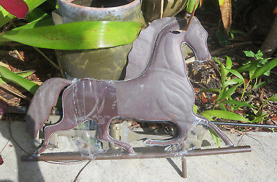 "Antique COPPER HORSE WEATHERVANE 31""  EQUESTRIAN FARM BARN"