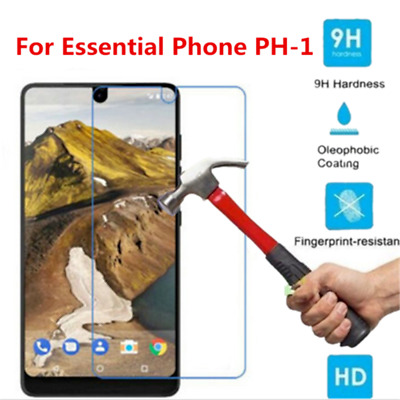 Clear For Essential Phone PH-1 9H+ Tempered Glass Screen Protector Cover 2PCS