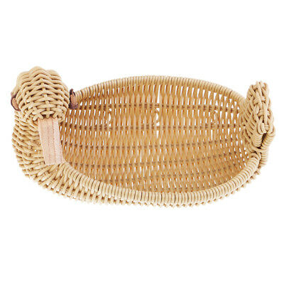 Duck Type Imitation Rattan Bread Basket Food Weaving Storage Handmade Basket
