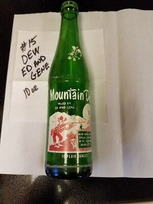 Old Vintage 10 Oz Mountain New Hillbilly Glass Bottle Filled By Ed And Gene