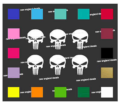 """FLASH SALE 6pk Punisher American Sniper Decal - Mag Well 1.25""""  AR15  Colt S&W"""