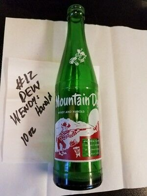 Old Vintage 10 Oz Mountain New Hillbilly Glass Bottle Wendy And Harold