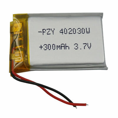 3.7V 300 mAh Polymer Li battery For Sat Nav GPS bluetooth headset pen mp4 402030