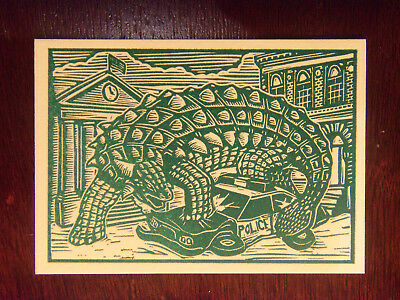 2016 Kickstarter MARS ATTACKS Occupation Woodcut Art DA-LP4 Crushing The Police