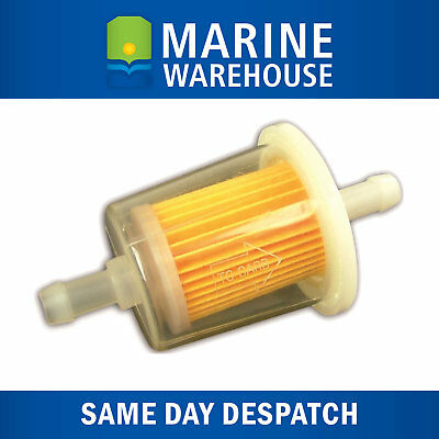 Inline Fuel Filter 6mm - Suits 4 Stroke and 2 Stroke Outboard Motors 205084