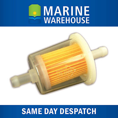 Inline Fuel Filter 10mm - Suits 4 Stroke and 2 Stroke Outboard Motors 205086