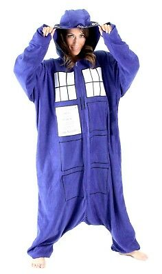 Doctor Who - TARDIS Hooded Adult Pajamas or Costume - One size fits most