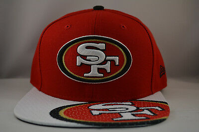 265dc037 New Era Sna Francisco 49ERS 9Fifty Snapback Authentic Hat Cap NFL in Red