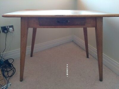 Scandinavian style antique desk / table with drawer