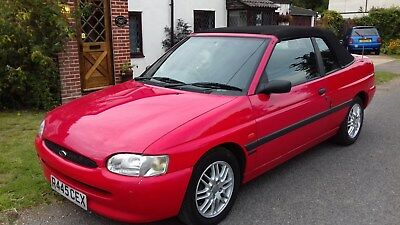 Ford Escort Cabriolet Red Convertible