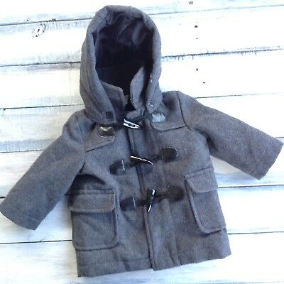 Koala Kids Infant Baby Boy Gray Wool Coat Dressy Jacket Size 3 / 6 Months