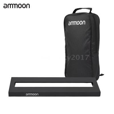 ammoon DB-1 Mini Aluminum Alloy Guitar Pedal Board with Carrying Bag Tapes X0E5