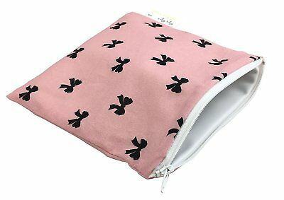 Itzy Ritzy Snack Happens Reusable Snack and Everything Bag, Bows & Babes
