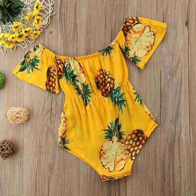 Newborn Infant Baby Girls Boys Romper Bodysuit Jumpsuit Summer Outfits Sunsuit