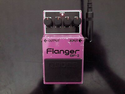 Boss BF-2 Flanger, 1983, MIJ, Made in Japan, black knobs and label