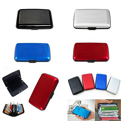 Aluminum RFID Blocking Credit Card Holder Aluma Wallet Hard Case Anti Scan Theft