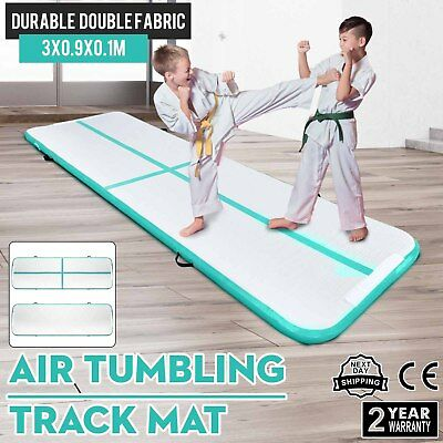 0.9x3M Air Track Home Floor Gymnastics Tumbling Mat Inflatable GYM Cheerleading