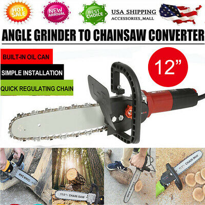 12 Inch Chainsaw Bracket Grinder Into Chain Saw Woodworking Cutting Tools
