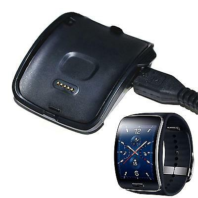 New Black Charging Cradle Smart Watch Charger Dock For Samsung Gear S SM-R750 US