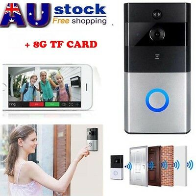 Wireless WiFi Remote Video Camera Door Bell Phone Doorbell Intercom 8G Card
