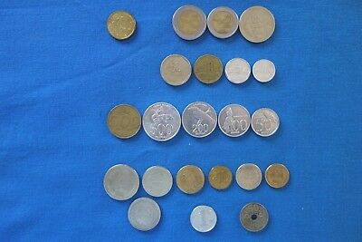 22 World Coins from 6 countries - ALL different, NO duplications