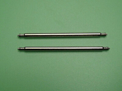 2x EXTRA STRONG 2mm THICK WATCH SPRING BARS PINS STAINLESS STEEL Lug Width 30mm