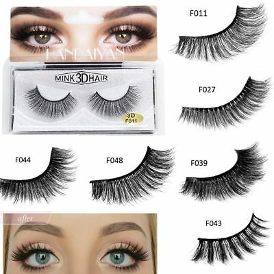 Pelo de visón Pestañas Postizas Cruelty False Eyelashes Grueso Cruz Eye Makeup