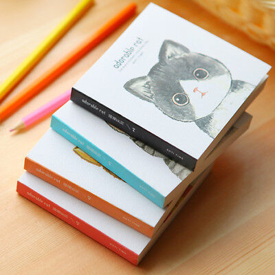 """Adorable Cat"" 1pc Pocket Cute Mini Diary Freenote Notebook Memo Study Journal"
