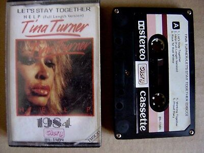TINA TURNER let´s stay together + help VERY RARE CASSETTE TAPE GLORY 1984