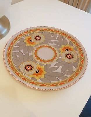 Rare, Collectable Charlotte Rhead CROWN DUCAL Rhodian Design Wall Charger 1940's