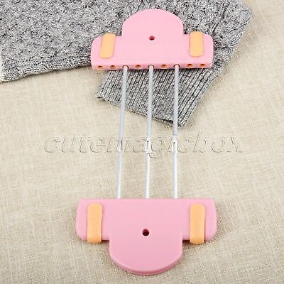 For Scarf Bow Tassels 1Pc Pink Plastic Flower Hand Knitting Weaving Loom 3 Rods