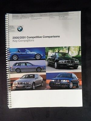 Rare! Dealer Only 2000/2001 BMW Competitive Comparisons Book Brochure 78 pg