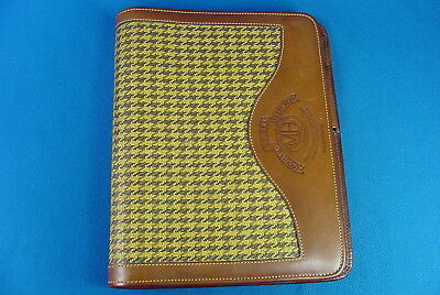 Nos Ghurka Marley Hodgson Organizer-Planner Leather & Derby Plaid Nw0T