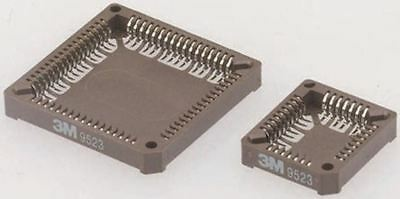 3M 1.27mm Pitch Female PLCC Socket, 44 Way SMT, Tin over Nickel Plated Contacts