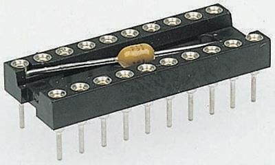 Assmann 2.54mm Pitch Vertical 24 Way, Through Hole Turned pin Closed Frame IC Di