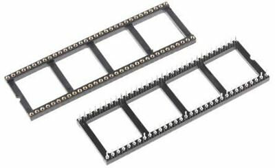 Winslow 2.54mm Pitch Vertical 64 Way, Through Hole Turned pin Open Frame IC Dip