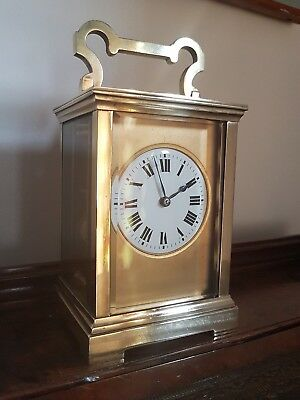 A superb Masked Striking French Carriage Clock circa 1880. VG Condition