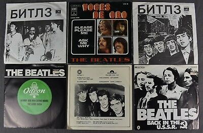 Beatles Foreign 45 rpm Records Lot Picture Sleeves Russia Spain (6)