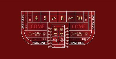 Craps layout single dealer 6 to 8 foot choice of 5 colors