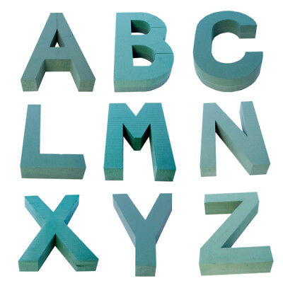 Val Spicer Oasis Floral Foam Backed Letters A - Z Quick Clip On Funeral Tribute